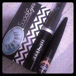 LASHES / FULL SIZE MASCARA && EYELINER! NEVER USED